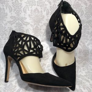 Jessica Simpson Cut Out Ankle Strap Heels Pointy